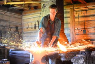 Blacksmith at Lower Fort Garry