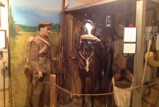 1917 Cavalry diorama in the museum