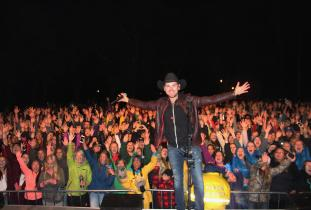 Brett Kissel performing in Riding Mountain National Park