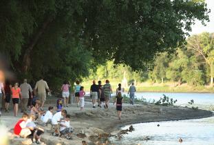 Riverwalk in the summer