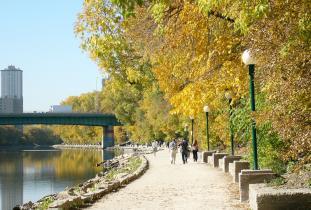 Riverwalk in the fall