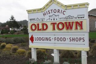 Historic Old Town Sign by Travel Lane County