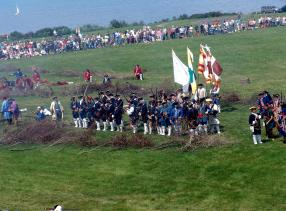 The 1759 French attack on the field fortifications at Fort Ontario will be recreated on August 29-30 at 2:00 PM each day.  By taking Oswego the French hoped to cut off the flow of men and supplies to the British siege of Fort Niagara.