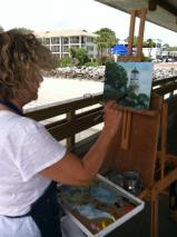 Plein air artist in the Golden Isles