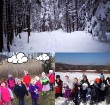 Winter wonderland weekend collage