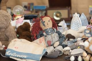 Antiques and collectibles along the Route 90 Garage Sale