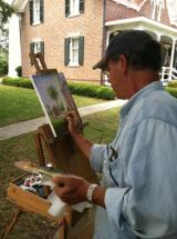 Plein air artist in historical Brunswick