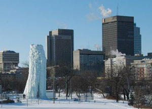 Ice Climbing Tower and Skyline