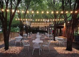 Enjoy the perfect blend of ambiance and flavor in the patio cafe at Big City Bread - Athens, Georgia