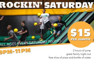 Rockin' Saturday Nights @ Rockin' Jump Trampoline Park