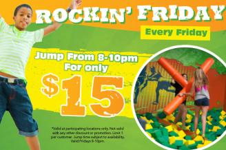 Rockin' Friday Nights @ Rockin' Jump Trampoline Park