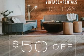 $50 OFF boutique RENTALS for the holidays!*