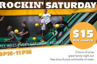 Rockin' Saturday Nights @ Rockin' Jump Trampoline Park