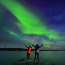 Northern Lights in The Whiteshell.