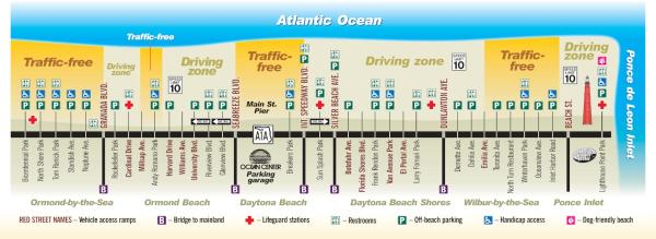 Daytona Beach Driving Map