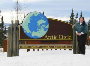 Arctic Circle Sign Winter