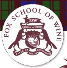 Fox School of Wine logo
