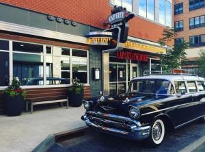 Exterior of Cap City Fine Diner at Bridge Park