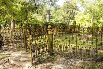 Iron gates at Bellevue Cemetery