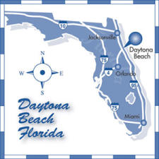Direction map of the Daytona Beach area
