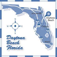Direction map of the Daytona Beach area