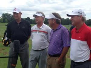 Senior Open golfers