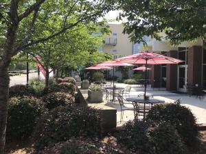 The patio outside of the restaurant, Mama Jewel's. - Athens, Georgia
