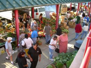 Shoppers at the North Market