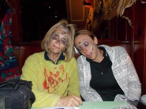 After the Zombie Walk, the author and Younger Cuz joined many other zombies for dinner at Henry's in downtown Fort Wayne.