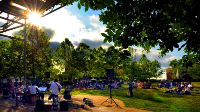 Southern Village Ukulele concert on the green