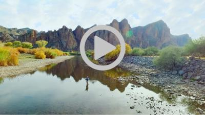 Salt River Fishing/Horseback riding - aerial video