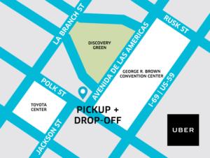 Uber Map Comicpalooza