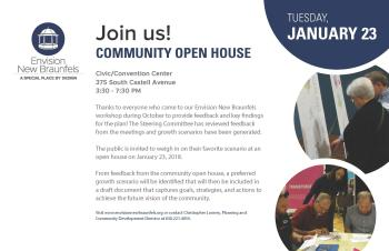 Community Open House flyer