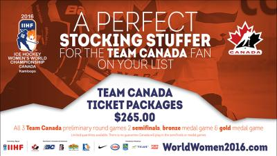 Team Canada Ticket Packages