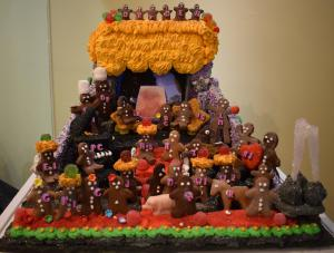 gingerbread people on display at the Eastman Museum