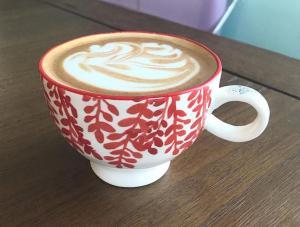 Latte at SUNdays Cafe
