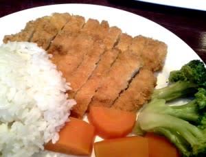 Chicken Katsu & veggies at Asakusa