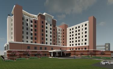 Artist rendering of new Embassy Suites