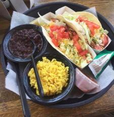 Taco platter at Hull's Seafood
