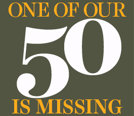 One of our 50 is Missing