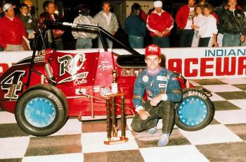 Jeff Gordon's first win at Lucas Oil Raceway