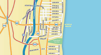 Map Of Myrtle Beach Area Film