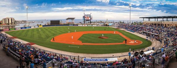 Blue Wahoos at Maritime Park