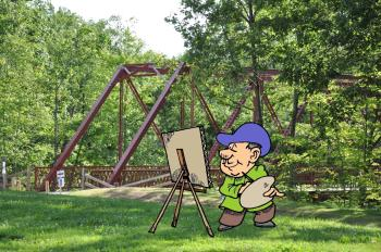 Paint outdoors at McCloud Nature Park on Saturday during Plein Air Painting!