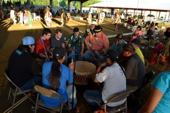 Traditional music at National Powwow