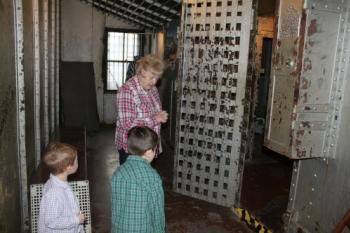 Kids can walk into the jail cell at the Hendricks County Historical Museum.