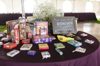 Board games are becoming more popular at wedding receptions | Erika Brown Photography