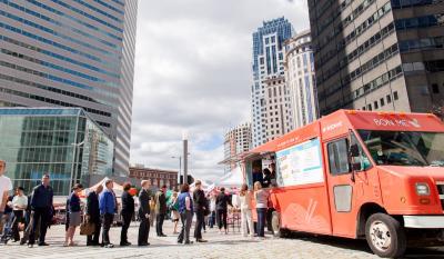 Food Truck in Boston's Dewey Square