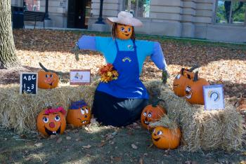 The scarecrows have emerged on the Courthouse Square in Danville.