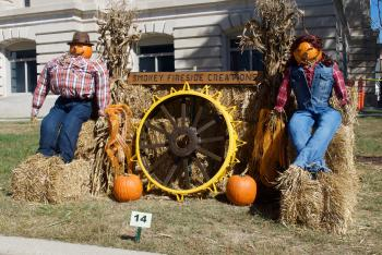 The scarecrow created by Smokey Fireside Creations is one of my favorites.